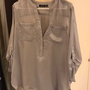 Light weight silver/grey blouse